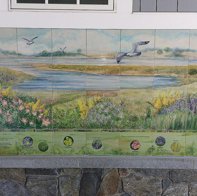Flora of Hampton NH, Tile Mural