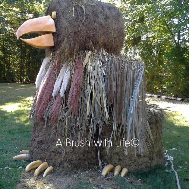Griffin Hay Sculpture