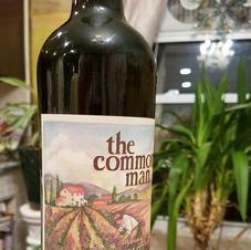 The Common man Wine Label Art