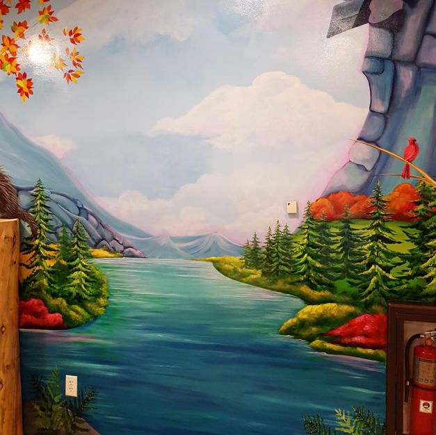 Old Man in the Mountain Children's Mural