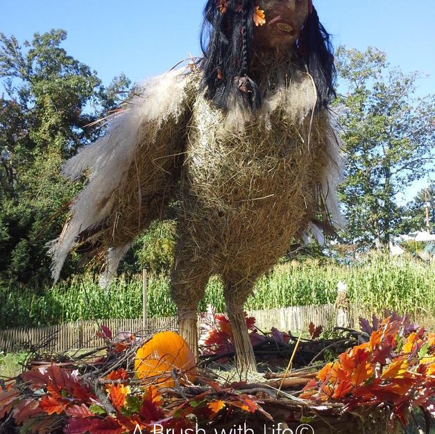 Harpy Hay Sculpture