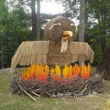 Phoenix Hay Sculpture