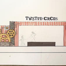 Twisted Circus Stage Set Conceptual Rend