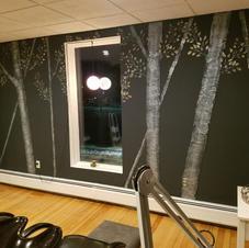 Raised Plaster Trees at Studio Vie