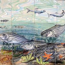 Close-up Of Fish of Hampton NH Tile Mura