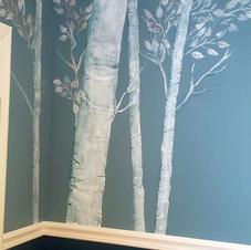 Raised Plaster Trees / Private Home