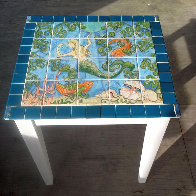 Mermaid Tile Table