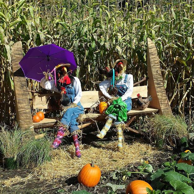 Chicken People Garden Sculpture