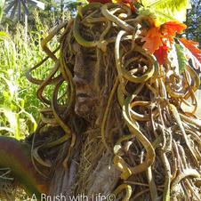 Medusa Hay Sculpture