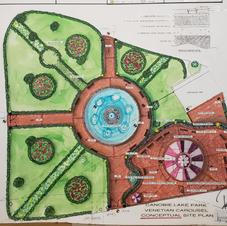 Main Fountain, Canobie Lake parkscape_Design
