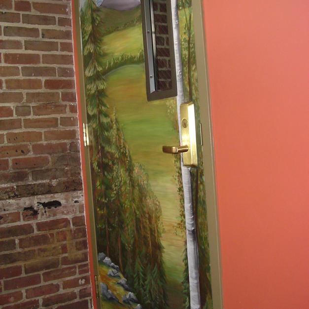Tenney Mountain Door Mural