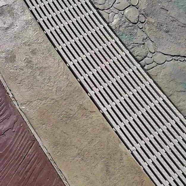 Drain, Stamped Concrete Design