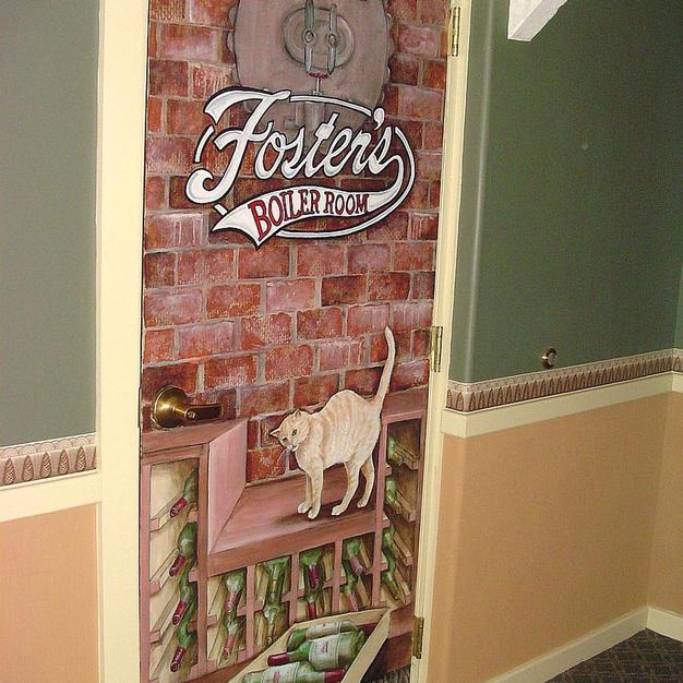 Foster's Boiler Room Entrance Door