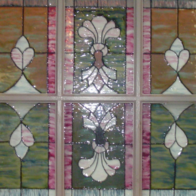Faux Stained Glass Close-up