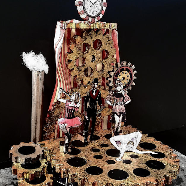 Twisted Circus Vignette stage Model.