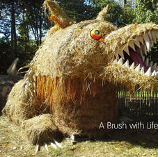 The Big Bad Wolf Hay Sculpture