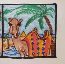Egypt window mural layout