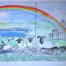 Ireland window mural layout