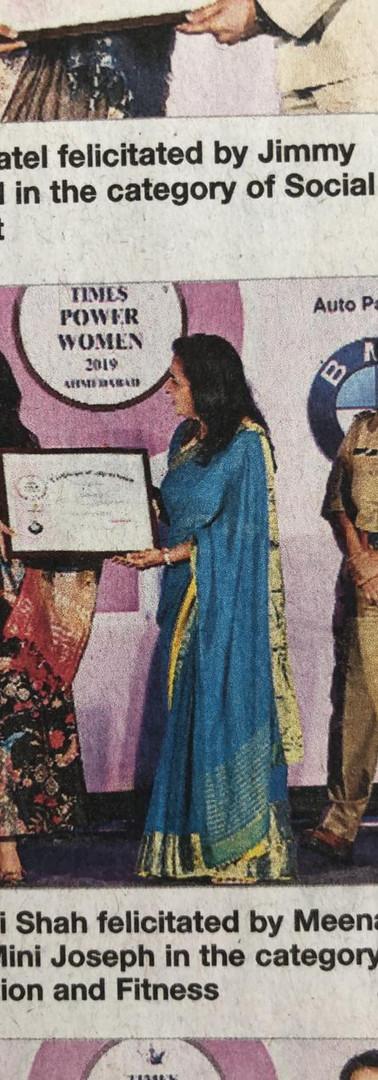 Sohini being Felicitated