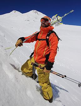 Ski tour and mountain guide Serge Shestikhin. Russia. Khibiny