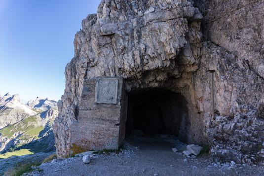 Вход в тоннели Первой мировой