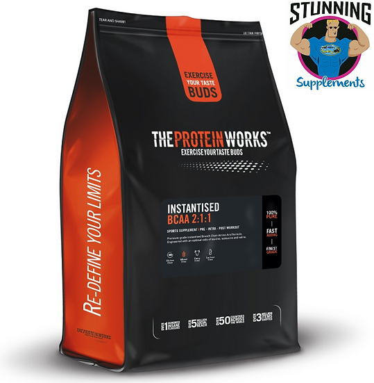 The Protein Works Instantised BCAA Powder in 2:1:1 Ratio, Berry Blitz, 500