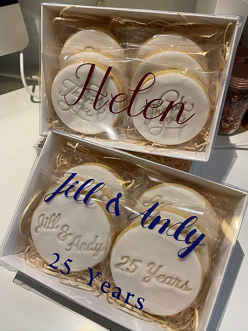 Personalised Biscuits and Window Gift Box