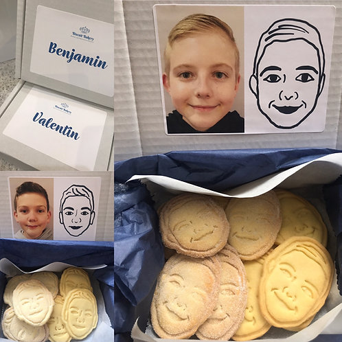Personalised Face Biscuits Gift Box