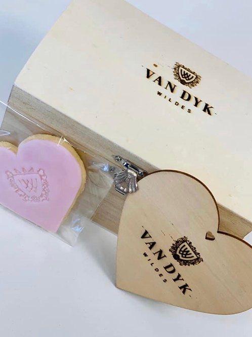 Personalised Biscuits and Keepsake Engraved Wooden Box