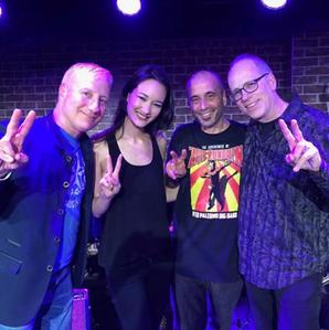 With drummer Gregg Bissonette at The Iridium, NYC