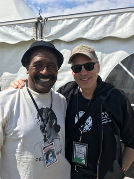 With Napoleon Murphy Brock at Zappanale Festival, Germany
