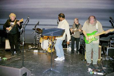 Umea, Sweden with Denny Walley, Napoleon Murphy Brock, Me & Mike Keneally