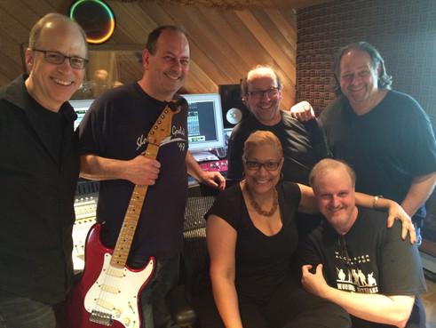 Recording session at Peaceful Waters (L-R) Me, Al Orlo,Vaneese Thomas, Jon Cobert, Wayne Warnecke, Lee Finkelstein