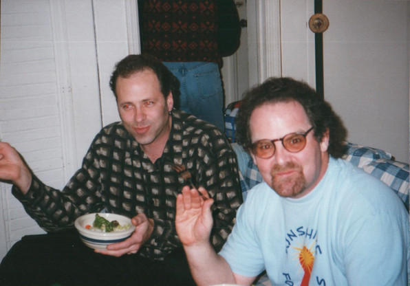 Me & Larry Hoppen post telethon meal. RIP Larry!