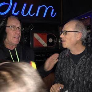 Hanging with Todd Rundgren after our show at The Iridium/NYC