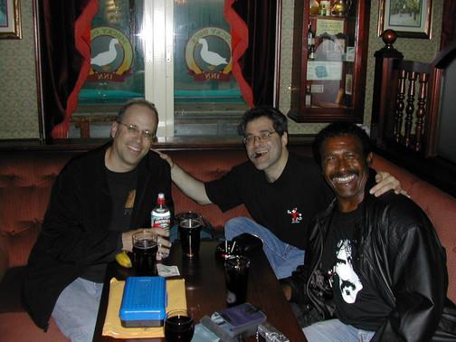 Me, Ed Palermo & Napoleon Murphy Brock in Umea, Sweden