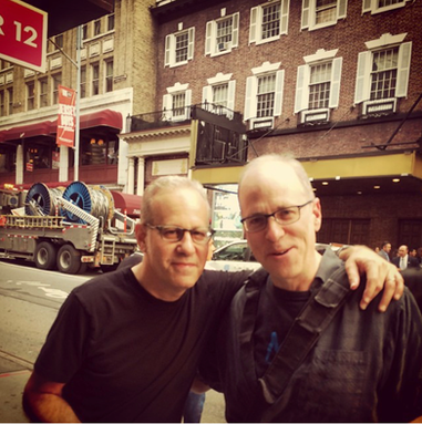 With my doppelganger Larry Saltzman