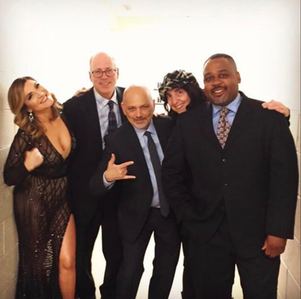 Shoshana Bean at the Lortel Awards Show in NYC with Mike Mancini, Ann Klein & Clayton Craddock