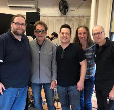 With Huey Lewis, NYC 2019