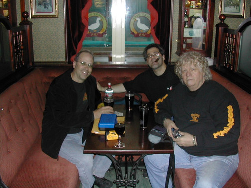Me, Ed Palermo & Denny Walley in Umea, Sweden