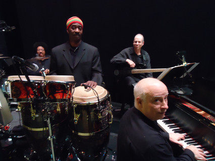 2011 Alvin Ailey at City Center, NYC with (L-R) Buddy Williams, Gary Fritz, Me, Larry Wolf