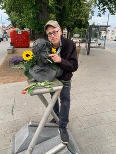 Bad Doberan, Germany, 2019 with Frank Zappa bust
