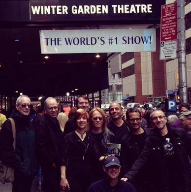 Mamma Mia Band outside the Winter Garden Theatre in 2013