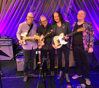 Reading Blues Fest (L-R) Me, George Naha, Robben Ford & Ted Kooshian