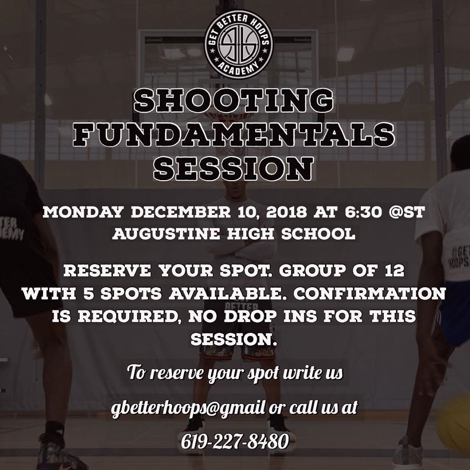 2018 BASKETBALL SHOOTING CLASS IN SAN DI