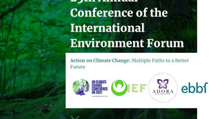 ebbf partners with IEF at COP26