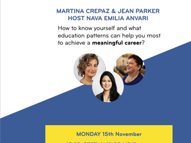 15th November - next LIVE ebbf meaningful career dialogue