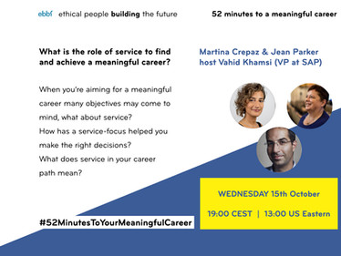 15th October - 52 minutes to your meaningful career with Vahid Khamsi