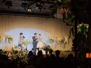 졸업생 하헌우 선배님의 결혼식