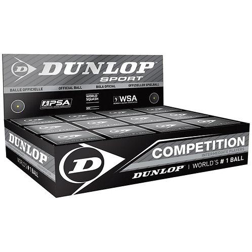 Dunlop Competition Squash Balls - Single Dot
